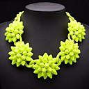 acrílico de la moda collar de flores de cono joyería jq de las mujeres