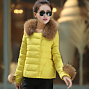 YDW Women's Fashion Thick Slim Short Down Jacket SV008282 Yellow