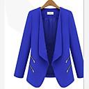 abrigo de manga larga delgado-guarnición de la mujer SSMN