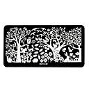 1pcs diseños elegantes del arte del clavo imagen bricolaje sello estampado placas plantilla manicura # 26