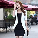 Duopindun@New Fashion Womens Candy Color Basic Slim Foldable Suit Jacket Blazer