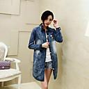 Aiwei abrigo de manga larga en forma de la mezclilla delgada de la mujer