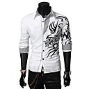 Glory Shirt Collar Long Sleeve Dragon Pattern Shirt