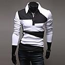camisa de manga larga de color de contraste casual quteng hombres