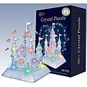juguete de flash castillo música DIY 3D de cristal ensamblar bloques de construcción de juego para los niños (105 piezas)