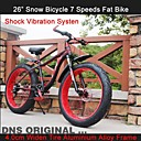 """7 velocidades de 26 """"de nieve NDS neumático de bicicleta de grasa en bicicleta anchura 4cm ™ montaña tenedor terreno bicicleta Shimano choque tren"""