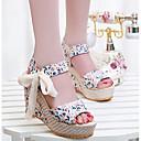 causual moda cómoda arco plataforma sandalias de cuña de impresión talón peep-toe de las mujeres winble