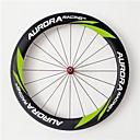 aurora carreras de 700c 60mm ancho 23mm ruedas ruedas de fibra de carbono remachador bicicleta