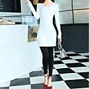 lilijia moda tejer vestido de las mujeres