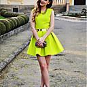 vestido sin espalda discoteca de moda de fluorescencia sexy talle de Bela mujeres