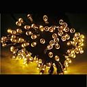 21m energía solar colores 200 conducido fiesta de Navidad al aire libre de interior de hadas stringlight lámpara navidad -amarillo