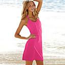 color sólido vestido de playa de la correa nueva moda de trajes de baño
