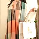 desea gran bufanda de cachemira cheque coreano