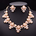 JQ Jewelry Womens Resins Shape of Flower Fashion Necklace Set