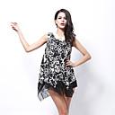 Adela Womens V-neck Grenadine Irregular Dress