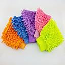 (5 piezas) de fibra chenilla iluminada de un solo lado de lavado de coches guante
