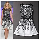 HouTong Womens Sexy Fashion Lace Patchwork Bodycon Sleeveless Mini Party Floral Club  Elegant Flower Dresses