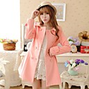 2014 nueva moda de solapa delgada capa de lana de doble botonadura de Xinfu ™ mujeres