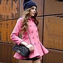 KissTiesWomens Vintage Falbala Pink Cute Coat