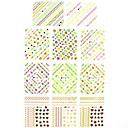1  11pcs 3d de transferencia de agua pegatinas de uñas de impresión Adhesivos de estrellas para las decoraciones de uñas de arte de uñas (25  16