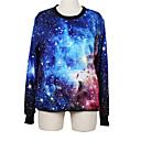 Weige azul galaxia suéter de impresión wy1018 de las mujeres