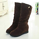Chaw Womens Winter Fashion Suede Short Boots 816