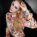 Adela Womens Chiffon Sexy Vintage Floral Print Long Sleeve Shirt