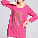 Wenyan Womens Round Neck Long Sleeve Loose Fit T-Shirt