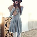 la moda de color sólido nuevo de Sammy mujeres de todo el vestido a juego