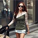 algodón camisa de color de contraste de Coco zhang mujeres