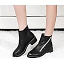 belleza botas de combate gril botines tacón grueso señalado rhinestone dedo del pie
