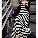 BZQ Womens Sleeveless Slim Fashion V-Neck Stripe Causual Dresses
