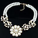 jamp;collar corto d bohemia de perlas de imitación exageración