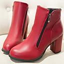 damp;botas de los zapatos de la motocicleta de las mujeres Y botines de tacón grueso