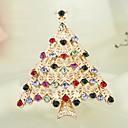 magos regalo temperamento elegancia de diamantes de imitación broche de árboles de navidad