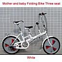 """20 """"mini bicicleta plegable de 3 velocidades mm madre ™ y el bebé bicicleta doble de la ciudad asiento de acero de alta catbon marco añadiendo asiento"""