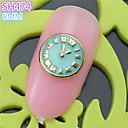 10pcs sh474 aleación 3d del arte del clavo del clavo de DIY salón de belleza de uñas decoración de uñas especial de reloj de diseño de lujo