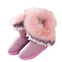 2014 botas nuevas botas de piel de un conejo imitación cálida piel de zorro de las mujeres Enthone am080 rosa