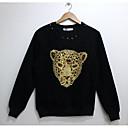 de los hombres de arándano moda 3d de manga larga de impresión de lana camiseta 2001