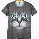 la moda de los hombres de arándanos 3d imprimir corta camiseta 2027