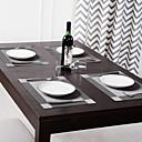 Satz mit 4 Licht und dunkelgraue Tischsets, Seiten, 30  40cm (12  16 cm)