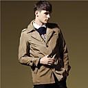 Mens Lapel Casual Thickened Coat