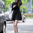 JYS Women's Long Sleeve Slim Fashion Bateau Causual Ruffly Dresses