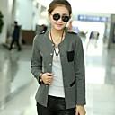 Womens Round Collar Slim Coat