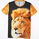 la moda de los hombres de arándanos 3d imprimir corta camiseta 2013