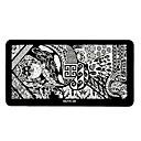 1pcs diseños elegantes del arte del clavo imagen bricolaje sello estampado placas plantilla manicura # 20