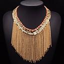 collar de borlas exagera cadena de oro de la joyería de las mujeres jq