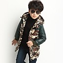 Boys Camouflage Hooded Coat