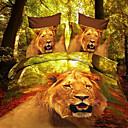 BAOLISI Animal Print 4-Piece Duvet Cover Set