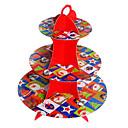 navidad rojo tres capas soporte de la torta de cartón